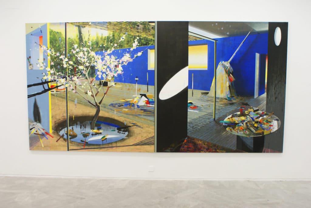 """""""Jardin japonais"""" par Alfonso Albacete au CAAC, musée d'art contemporain à Séville."""