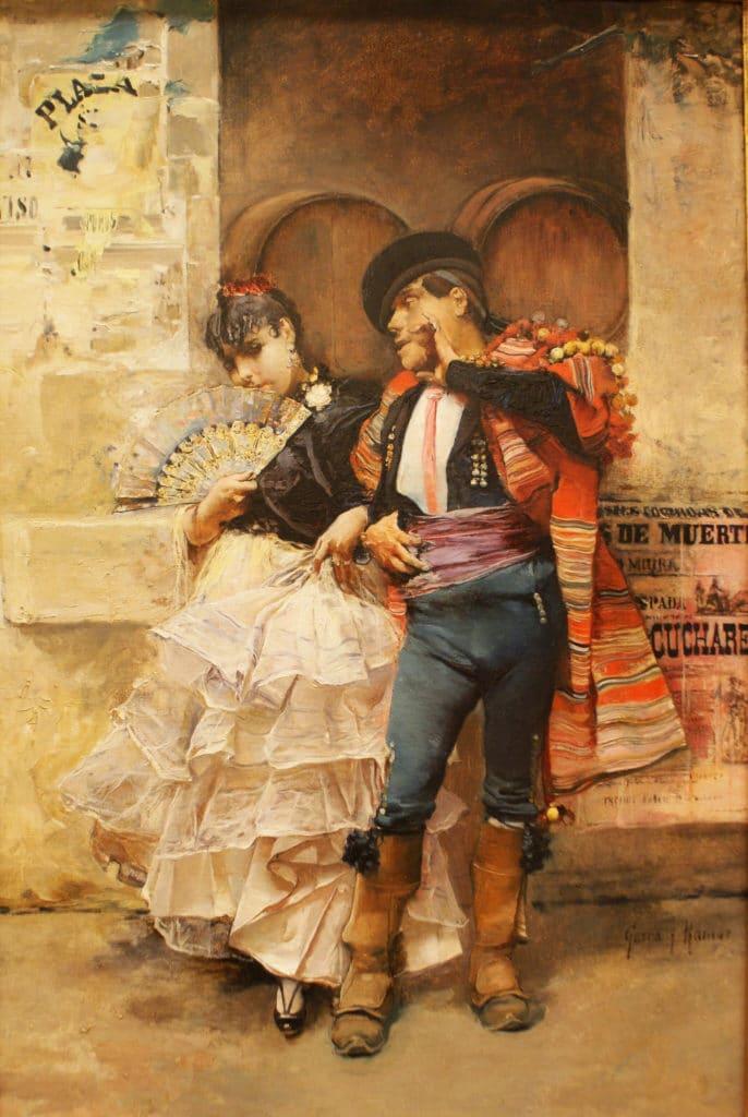 """""""Couple de danseurs sévillans"""" (1885) de José Garcia Ramos au Musée des Beaux Arts de Séville."""