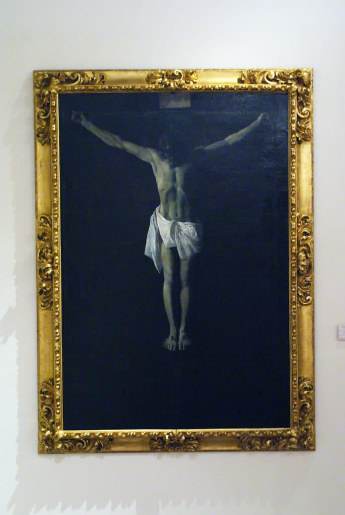 > «Jésus crucifié» (1635/1640) par Zurbaran au Musée des Beaux Arts de Séville.