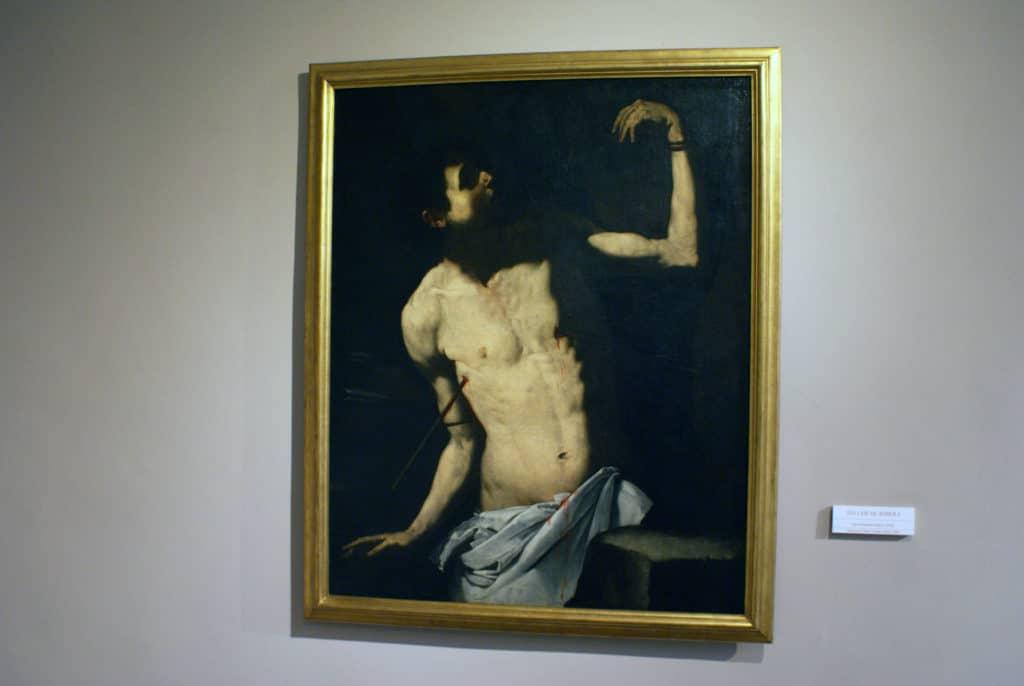 """> """"Saint Sebastien """"(163o) de Jusepe de Ribera au musée des Beaux Arts de Séville."""