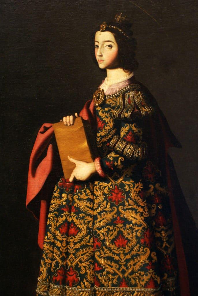 Peinture de Zurbaran au musée des beaux arts dans le centre de Séville.