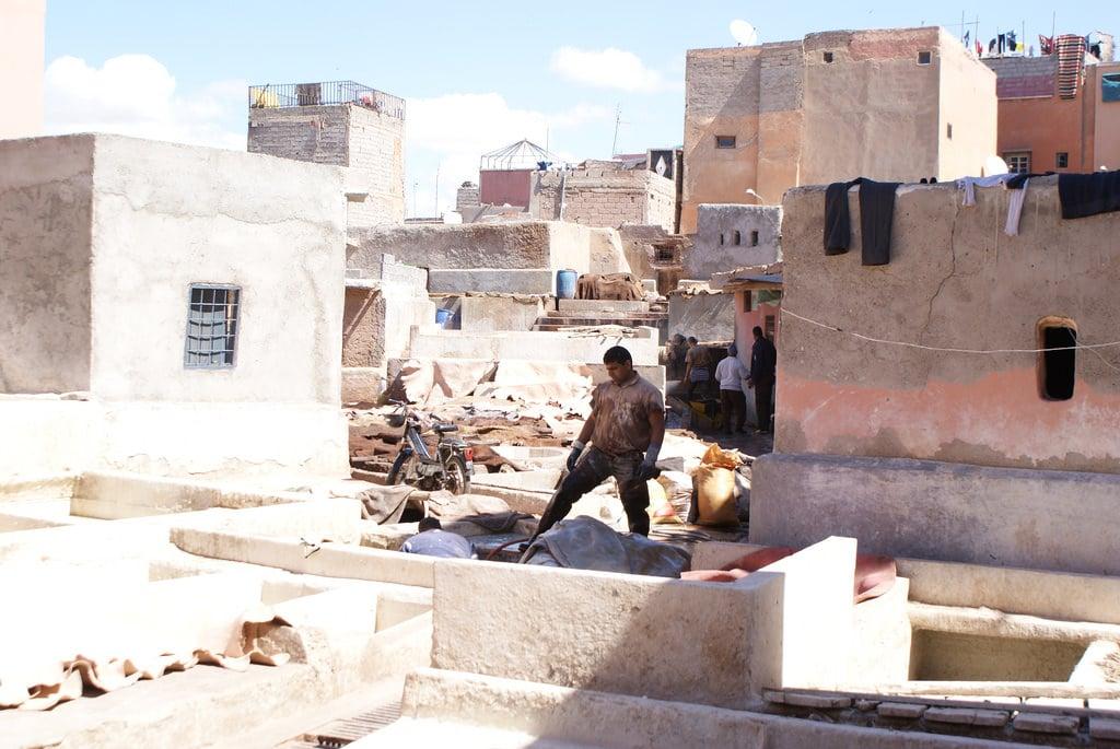 """Tanneries de Marrakech, """"passage obligé"""" de tout touriste perdu"""