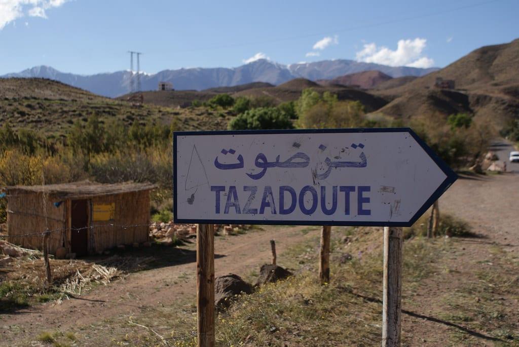 Montagne de l'Atlas au Maroc