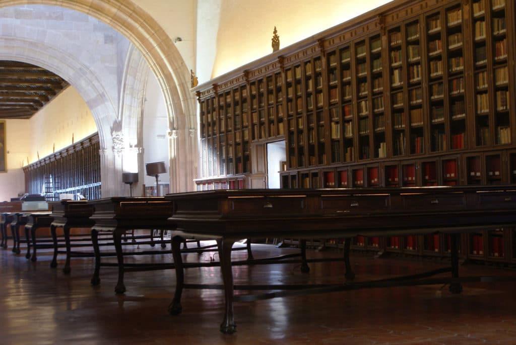 Bibliothèque de l'Hospital real de Grenade, une branche de l'université de Grenade.