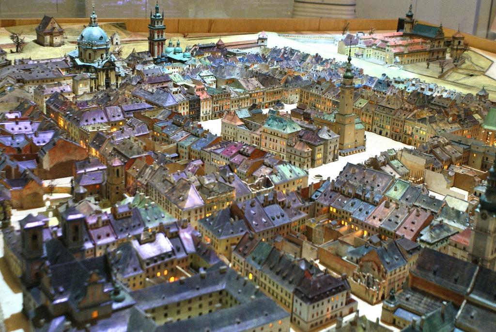 Panorama de L'ancien Lwow (ou Lviv) à Wroclaw [Srodmiescie]