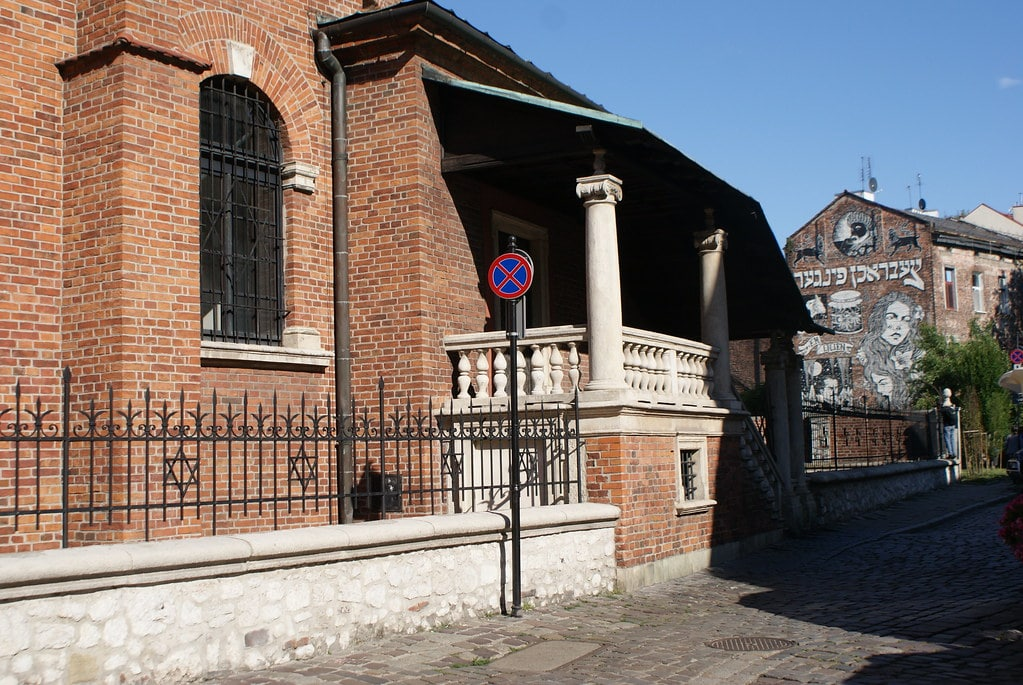 L'ancienne synagogue-forteresse renaissance de Kazimierz à Cracovie.