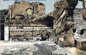 Thermes de Caracalla à Rome : Ruines gigantesques [quartier antique]