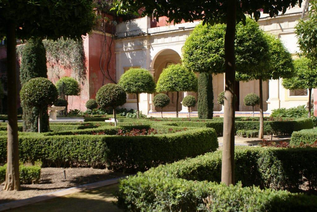 Jardin du Palais Casa de Pilatos dans le quartier du centre de Séville.