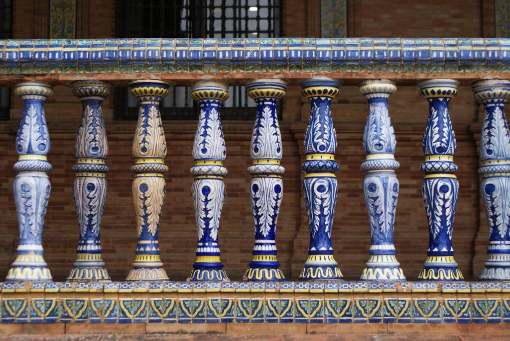Plaza de Espana à Séville : Décoration en faïence.