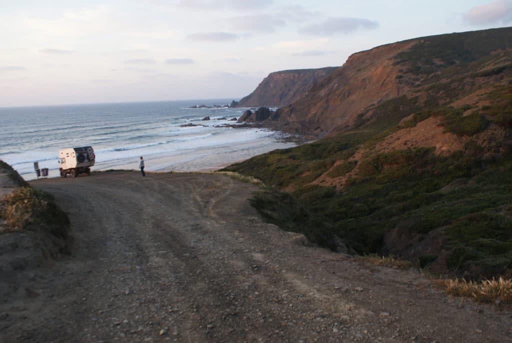 Plage ou praia da Ponta Ruiva près de Sagrès