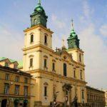 Eglise Sainte Croix à Varsovie : Jesus à terre et Chopin dans le pilier [Centre-Nord]