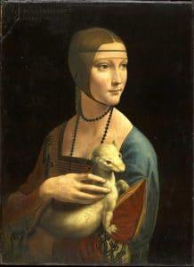 Musée Czartoryski à Cracovie : La Dame à l'hermine [Vieille ville]