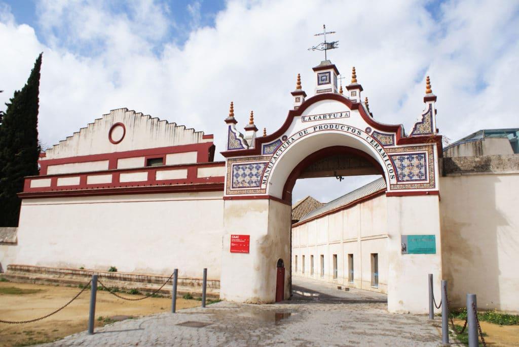 Entrée de la manufacture de la Cartuja ou Pickman à Séville.
