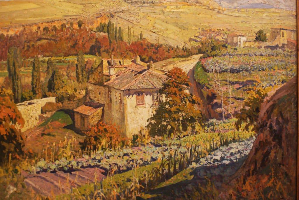 """""""Paysage de Ségovie"""" (1952) de Eduardo Martinez Vazquez - Musée des Beaux Arts de Séville."""