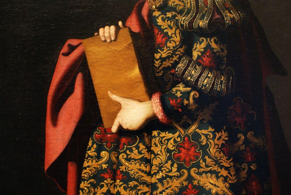 Détails d'une toile de Zurbaran