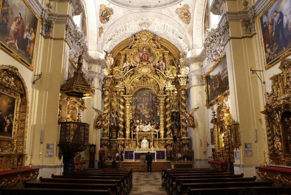 Intérieur de l'église San Jorge de l'hopital de la Caridad à Séville.