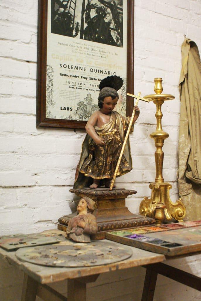 Dans un atelier artisanale de Séville - Musée ethnographique de Séville.