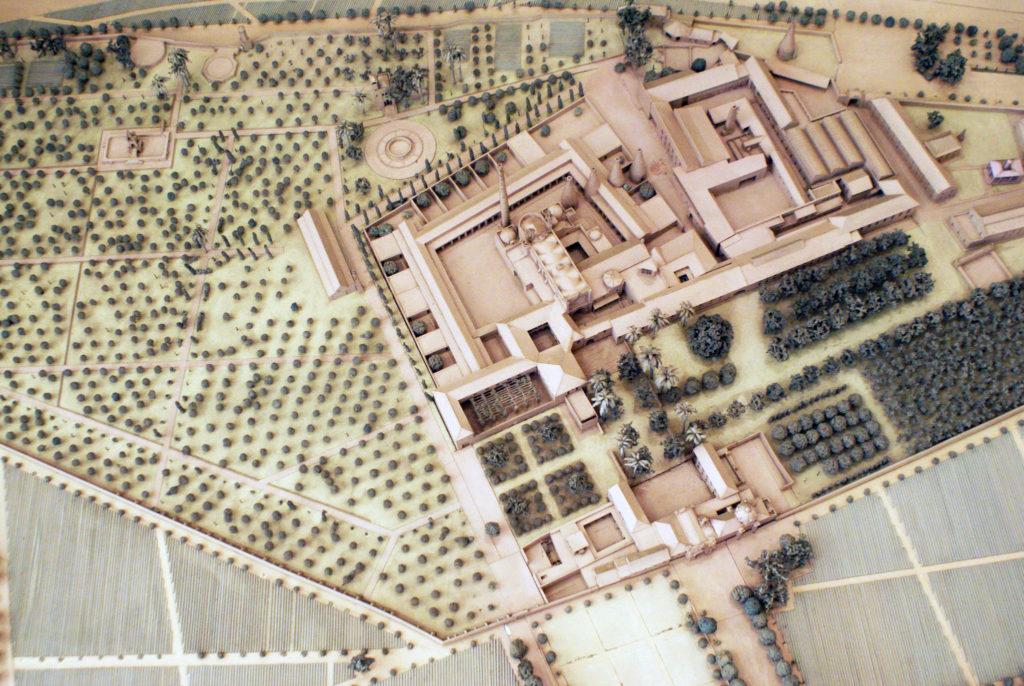 Maquette du monastère devenu usine devenu Centre Andalou d'Art Contemporain à Séville.