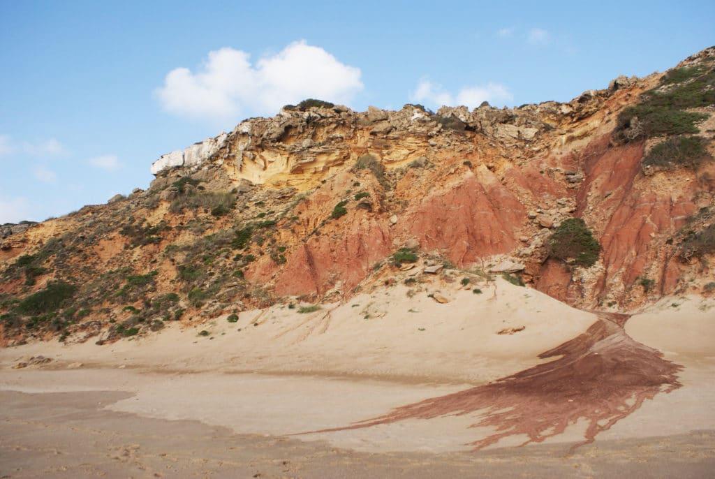 Plage ou praia do Telheiro près de Sagrès