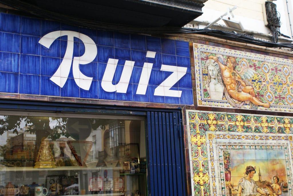 Ruiz, magasin de céramiques dans le quartier de Triana à Séville.