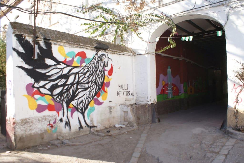 Street art : Une belle cocotte dans le quartier d'Alameda à Séville.