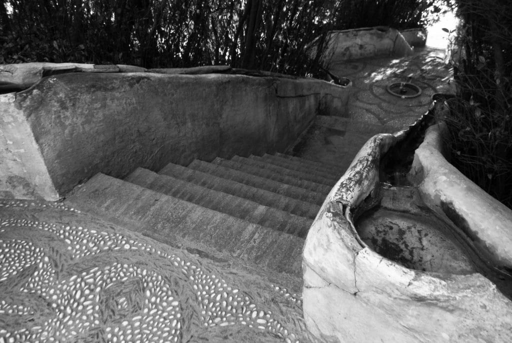 Dans les jardins de la Generalife dans l'Alhambra à Grenade.