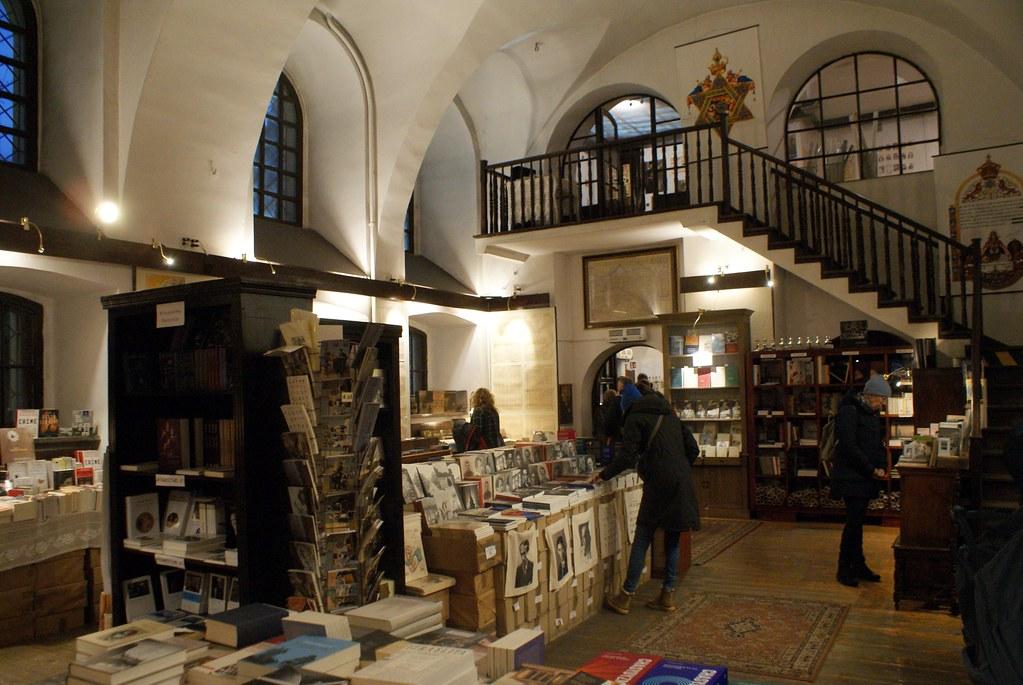 Austeria à Cracovie, librairie spécialisé sur le judaisme et l'histoire juive