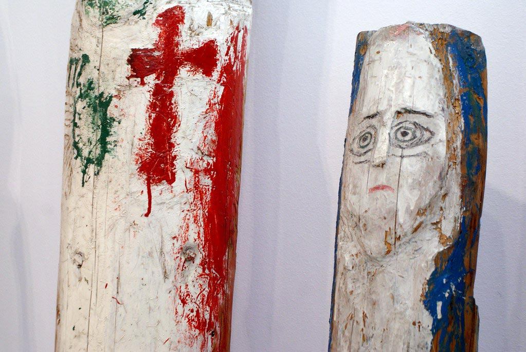 Sculptures d'Herodek au musée ethnographique de Cracovie.