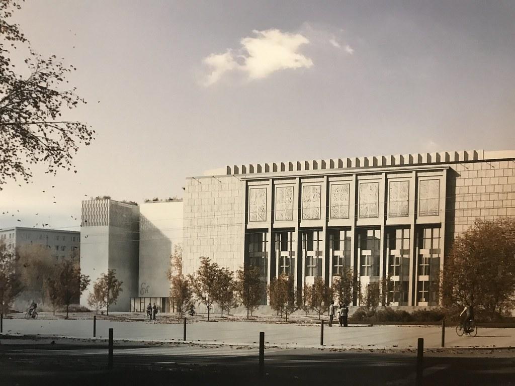 > Projet choisi pour le musée Wyspianski à Cracovie à gauche de l'imposant bâtiment principal du Musée National.