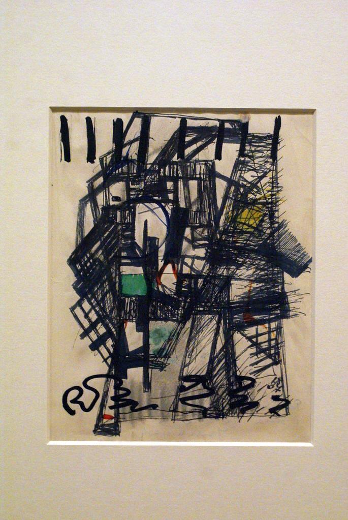 """Composition"" (1937) de Henryk Wicinski au musée Kamienica Szolayskich de Cracovie."