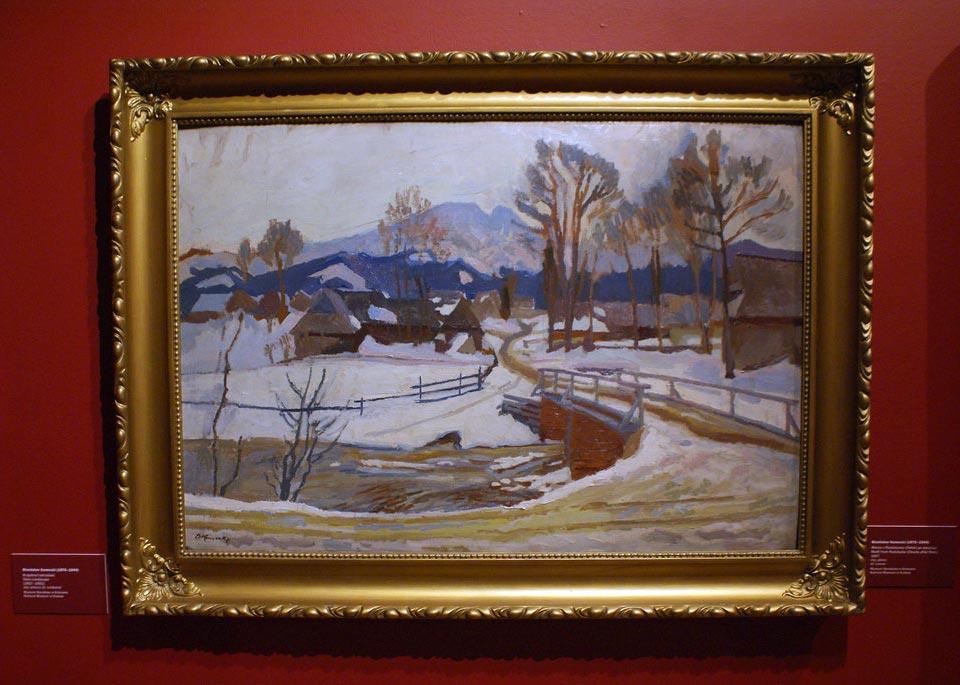 """""""Paysage des Tatras"""" (1917) de Stanislaw Kamocki à la Kamienica Szolayskich de Cracovie."""