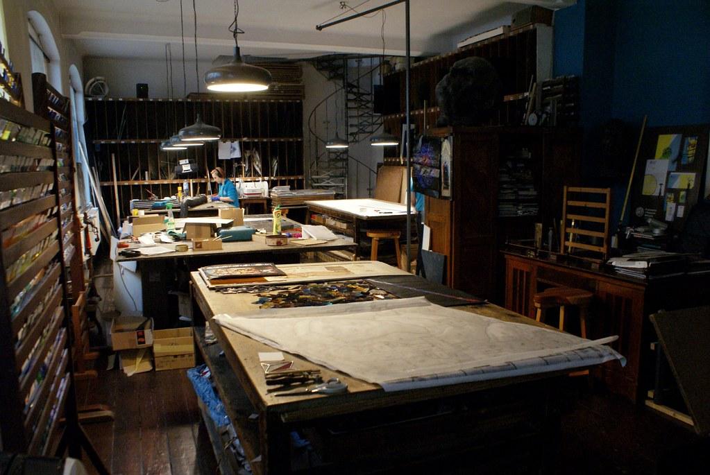 Atelier du musée des Vitraux de Cracovie.