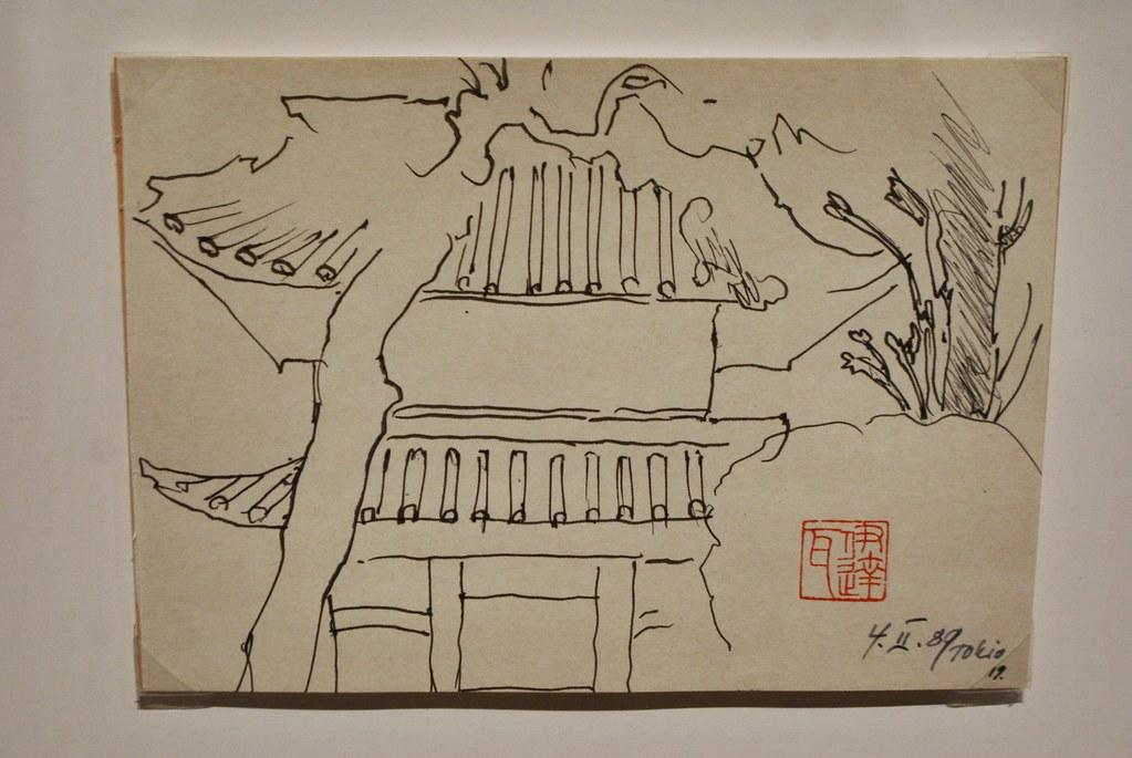 > Croquis du Japon par le réalisateur polonais Wajda au musée Manggha de Cracovie.