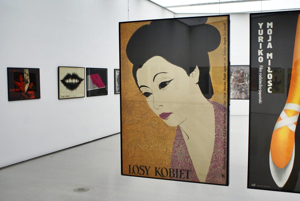 Expo sur les affiches polonaises de films japonais entre 1950 et aujourd'hui.