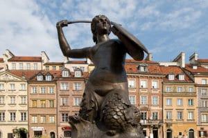 Vieille ville de Varsovie : La carte postale d'avant guerre