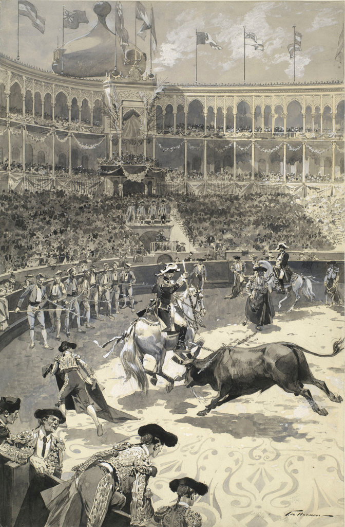 Corrida à Campo Pequeno en 1903 à Lisbonne en présence du roi Edward VII et du roi Carlos.