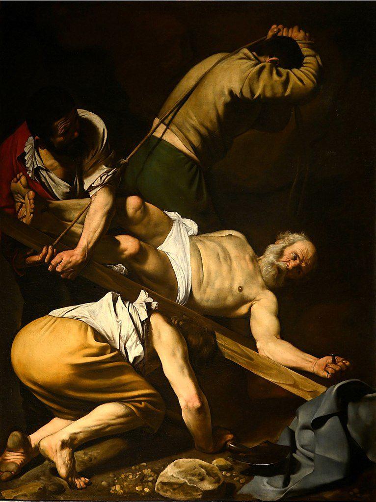 """""""Martyr de Saint Pierre"""" de Caravage dans l'église Santa Maria del Popolo à Rome"""