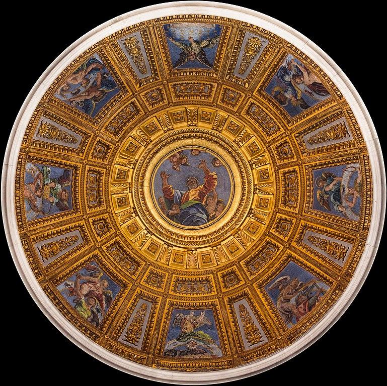 Dome de la chapelle Chigi par Raphael dans l'église Santa Maria del Popolo à Rome
