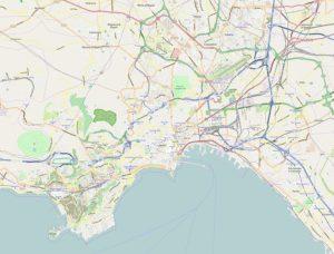 Carte de Naples : Plan détaillé des lieux intéressants