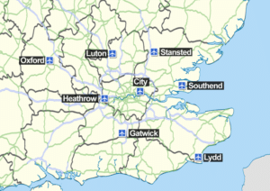Rejoindre Londres depuis l'aéroport Stansted au nord