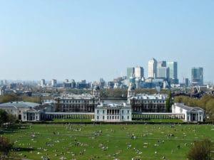 Greenwich park à Londres dans l'est londonien