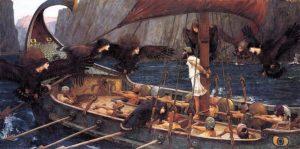 Fondation légendaire de Naples : Ulysse et les syrènes
