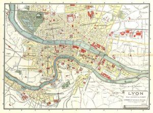 Carte de Lyon : Plan détaillé des lieux intéressants