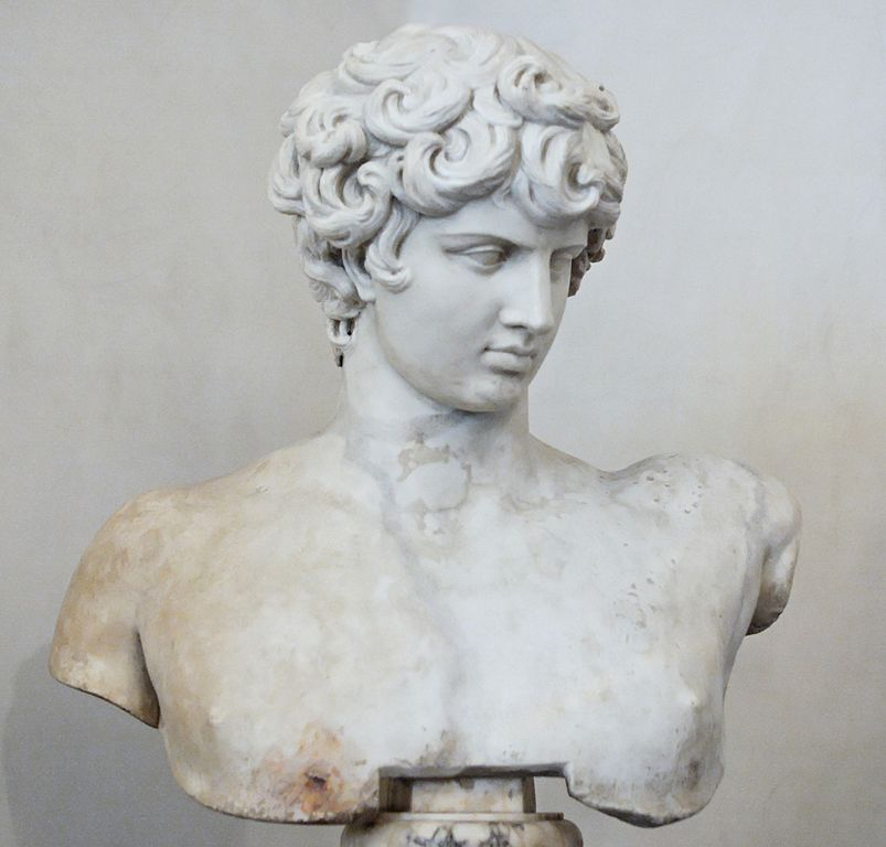 Musée National Romain : Buste Antinous Ludovisi à Rome - Photo Marie-Lan Nguyen Jastrow