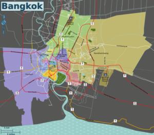 Carte de Bangkok : Plan détaillé de lieux intéressants