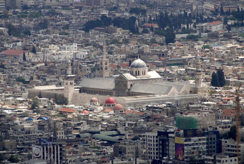 Grande Mosquée des Omeyyades à Damas.