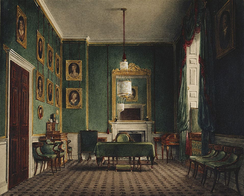 Palais de Buckingham : Green Closet de James Stephanoff (1817).
