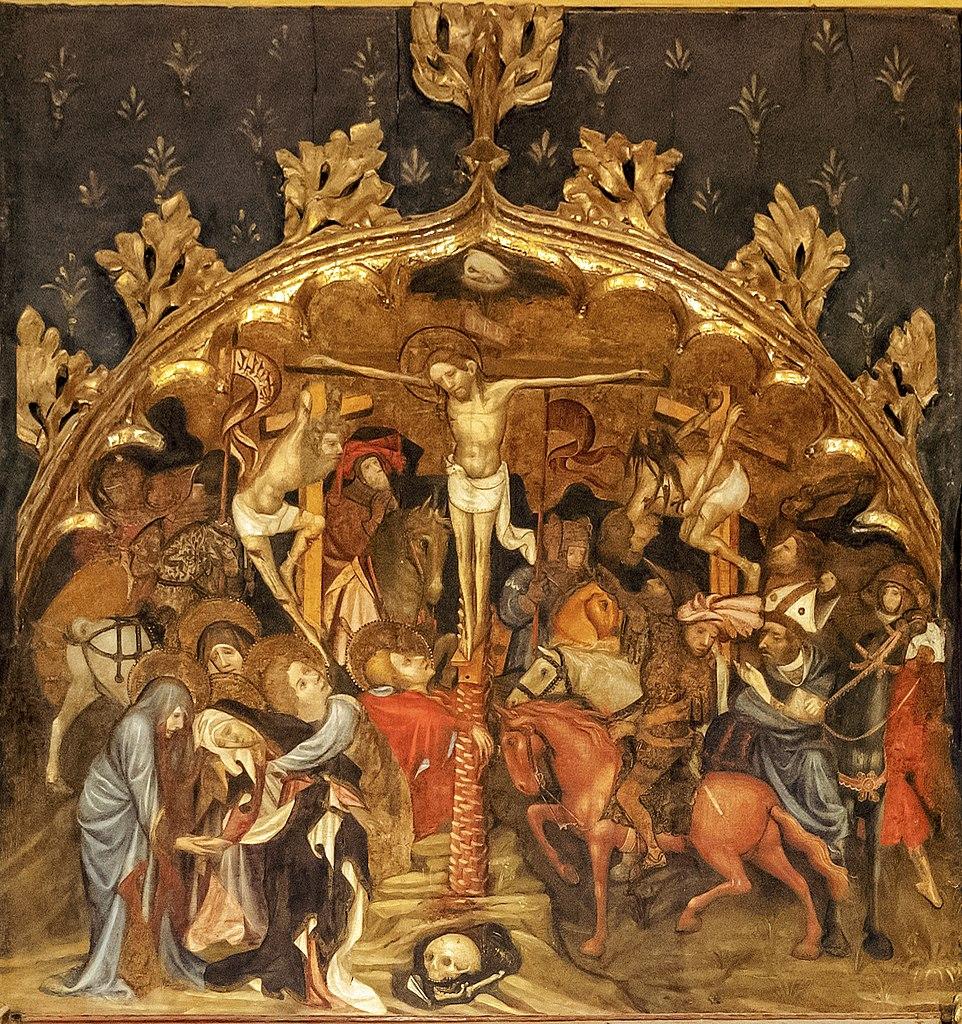 Cathédrale de Barcelone : Chapelle de St. Martin de Tours et St.Ambrose de Milan, peinture de Joan Mates (1415) Photo de Didier Descouens