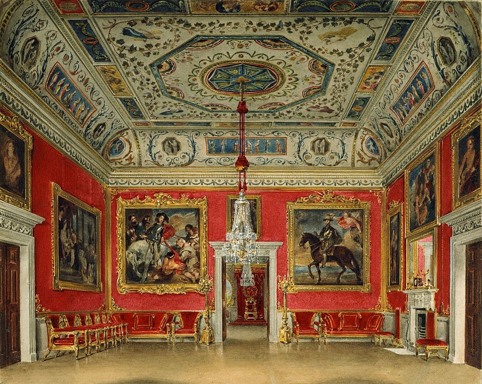 Palais de Buckingham : Drawing Room de James Stephanoff (1817).