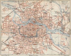 Carte de Wroclaw : Plan détaillé des lieux intéressants